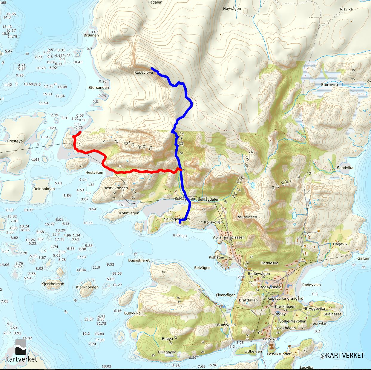 Rødøya-@Kartverket